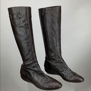 Cole Haan Tall Brown Chocolate Leather Boot 10B